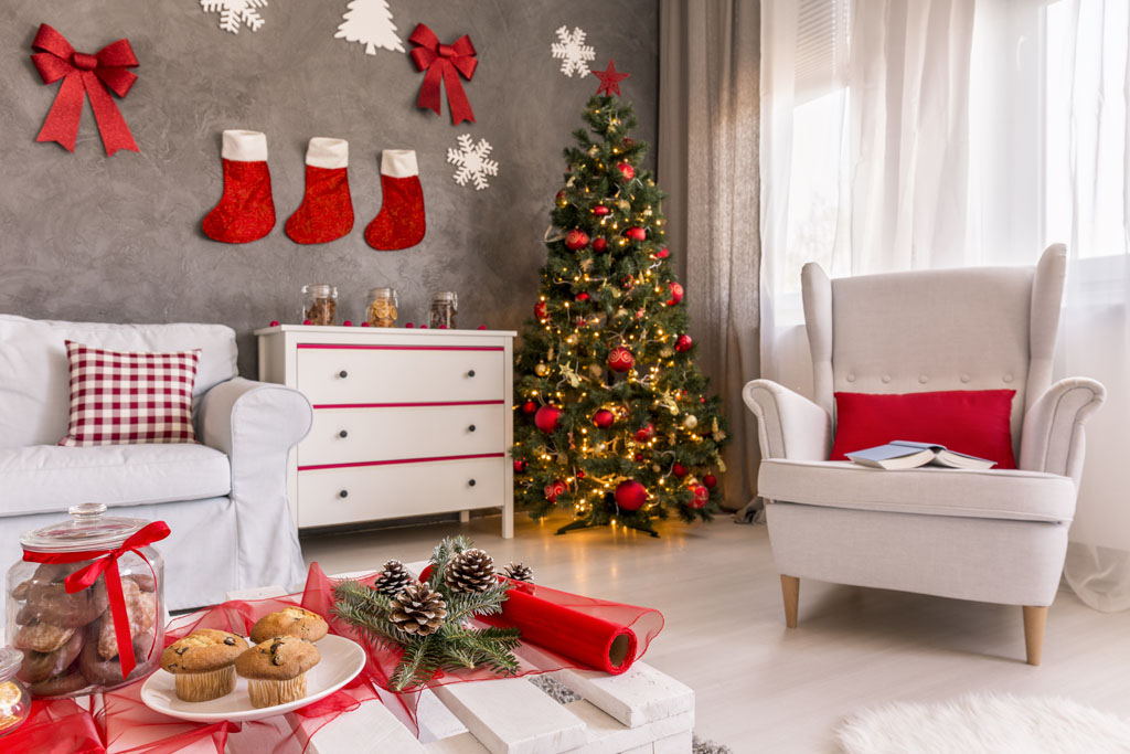 4 christmas home interior decorations 4 kar csonyi - Ideas de decoracion navidena ...
