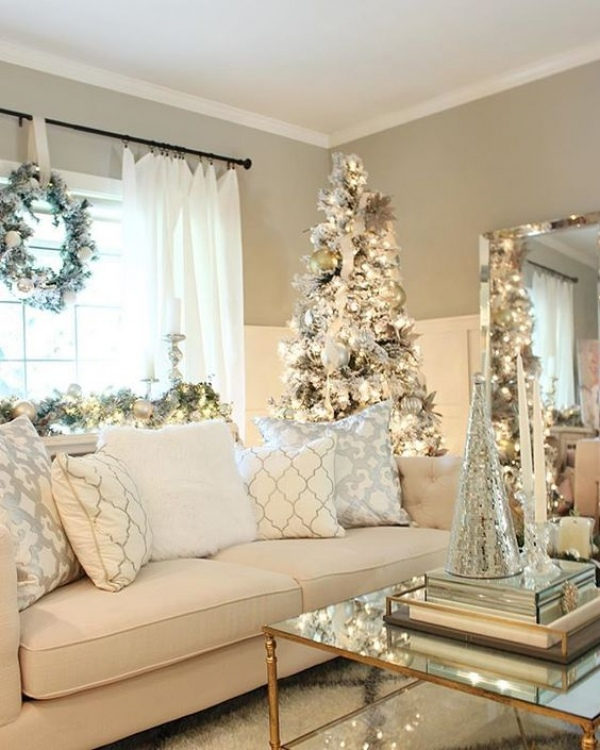 7 white christmas home decorations 7 kar csonyi feh r for Christmas decoration for inside the house