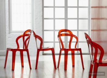 Műanyag design szék