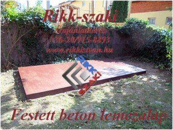 Kerti faház alapozás,beton lemezalap