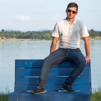Férfi kék farmernadrág
