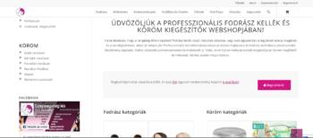 szépségvilág fodrászkellék webshop