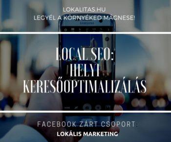 helyi keresőoptimalizálás (local seo)