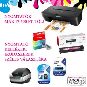 nyomtatók és kellékek